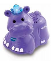 Детска играчка Vtech - Животни за игра, хипопотам -1