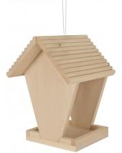 Дървен комплект Eichhorn - Хранилка за птици, за оцветяване -1