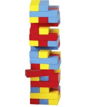 Балансна кула Goki - Дженга, разноцветна