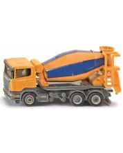 Метална количка Siku Super - Бетоновоз Scania, 1:87 -1