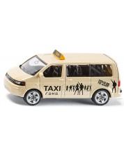 Метална количка Siku Private cars - Такси миниван Volkswagen Sharan, 1:55