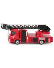 Метална количка Siku Super - Пожарникарска кола MAN, с въртяща се стълба, 1:50