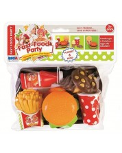 Игрален комплект RS Toys - Поднос с храна, 6 части -1