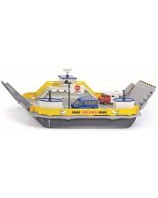 Метална играчка Siku Super - Ферибот с два микробуса, 1:50 -1