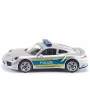 Метална количка Siku Super - Полицейски автомобил Porsche 911