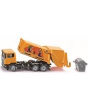 Метална играчка Siku Super - Боклукчийски камион Scania-R, 1:87