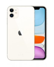 Смартфон Apple - iPhone 11, 128 GB, бял -1