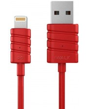 iWalk Twister - Lightning to USB cable for Apple 8-pin devices red