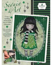 Творчески комплект KSG Crafts Sequin Art Gorjuss – Изкуство с пайети, Шалът -1
