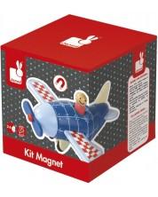 Дървена играчка Janod - Магнитен самолет