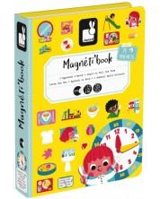Детска магнитна книга Janod - Часовник