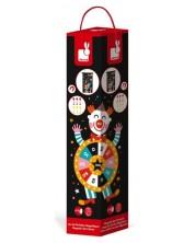 Детска игра Janod - Магнитен дартс, с цирк -1