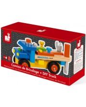 Дървена играчка Janod - Сглоби си сам, камион