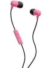 Слушалки с микрофон Skullcandy - JIB, розови/черни -1