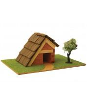 Сглобяем модел Domus Kits - Къща с истински тухли, комплект за начинаещи 1 -1