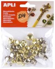 Комплект камбанки Apli - Метални, различни размери, 40 броя