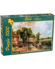 Пъзел Gold Puzzle от 1000 части - Каруца със сено