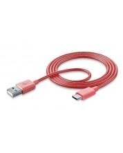 кабел за данни Celluarline USB-C, 1 метър, розов