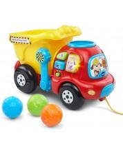 Бебешка музикална играчка Vtech - Камион, за дърпане -1