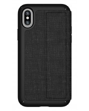Калъф Speck iPhone X Presidio Folio - Heathered Black/Black/Slate Grey