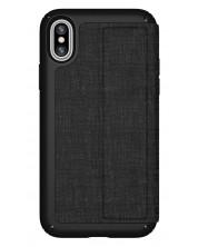 Калъф Speck iPhone X Presidio Folio - Heathered Black/Black/Slate Grey -1