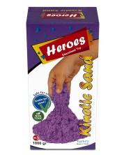 Кинетичен пясък в кутия Heroes - Лилав цвят, 1000 g