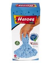 Кинетичен пясък в кутия Heroes - Син цвят, 1000 g