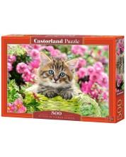 Пъзел Castorland от 500 части - Коте в градината