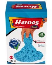 Кинетичен пясък в кyтия Heroes - Син цвят, 500 g