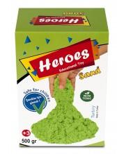Кинетичен пясък в кyтия Heroes - Зелен цвят, 500 g