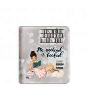 Текстилен калъф за Kindle Oasis With Scent of Books - My weekend is booked -1