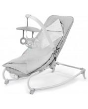 Бебешки шезлонг с вибрация KinderKraft Felio 2020 - С мелодии, сив -1