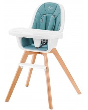 Столче за хранене 2 в 1 KinderKraft Tixi - Тюркоаз -1
