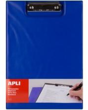 Клипборд с капак Apli А4 - Син -1