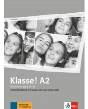 Klasse! A2 Lehrerhandbuch mit Video-DVD und Audio-CDs -1