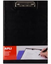Клипборд с капак APLI А4 - Черен -1
