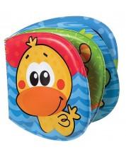 Бебешка играчка за баня Playgro - Книжка, градина -1