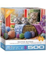Пъзел Eurographics от 500 XL части - Плетящи котенца -1