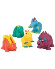 Комплект играчки за баня Battat - Динозаври -1