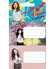 Комплект ученически етикети Disney - Soy Luna 3, 10 броя -1