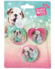 Комплект от 3 гуми Paso Studio Pets - Куче с фотоапарат -1