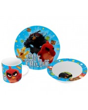 Комплект Disney - Angry Birds (чаша, чиния и купа)