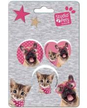 Комплект от 3 гуми Paso Studio Pets - Куче с очила -1