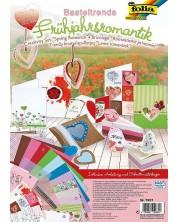 Творчески комплект за апликации и скрапбукинг Folia - Романтика