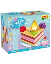 Детски конструктор Unico Plus - Парче торта, 14 части -1