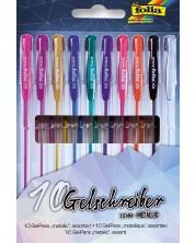Комплект гел-химикалки Folia - Металик, 10 броя -1