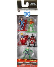 Комплект фигури Jada Toys Nano Metalfigs DC Comics - 5 броя