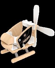 Дървен конструктор Classic World – Полицейски хеликоптер -1