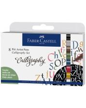 Комплект калиграфски маркери Faber-Castell Pitt Artist - 8 цвята -1