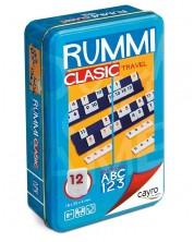 Компактна детска игра Cayro - Rummi Classic, в метална кутия -1